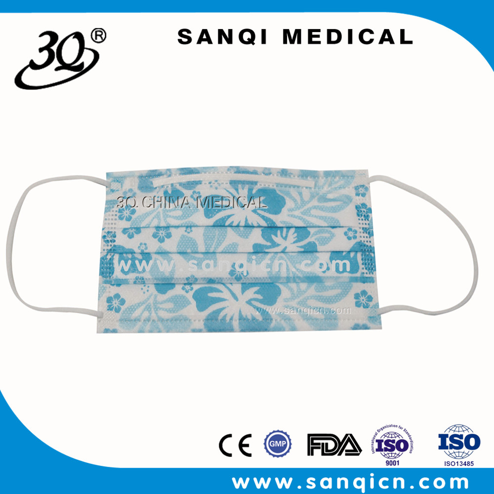 Custom printed surgical disposable dust nonwoven face mask Made in China