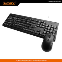 Basic Waterproof Design Wired Ultra-flat Keyboard and Mouse Combo nice touch