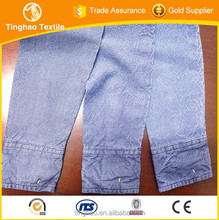 low price indigo shiny dobby tencel denim fabric for wholesale
