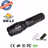 USA/EU hot sell E26/878 CREE XM-L2 2200LM Travel camping Zoom LED Flashlight Torch lamp for AAA/26650/18650 rechargeable Battery