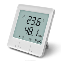 Household digital thermometer hygrometer with alarm clock