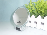 Mini hand held makeup mirror, plastic cosmetic mirror with foldable handle