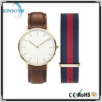 Minimalist 6mm thin famous name watches costume watches with stainless steel case