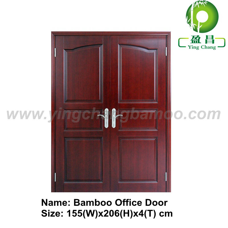 Bamboo solid wooden double interior door design