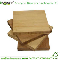 eco waterproof 18.5mm outdoor bamboo decking with two groove
