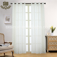 China Factory jacquard voile geometric panel curtain
