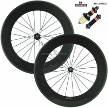 Tubular 700C bicycle carbon wheels for road bicycle wheelset 88mm depth 23mm wide carbon fiber road bke wheels