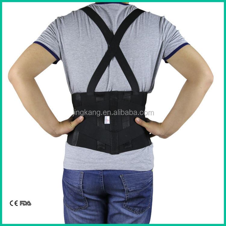 """ceinture lombaire de travail universelle ceinture de soutien dorsale orthopédique ceinture de hanche pour les maux de dos avec baleines en acier """"style ="""" background-color: # f5f5f5;"""