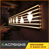 customized 3D acrylic frontlit LED logo/design/letter and any graphics