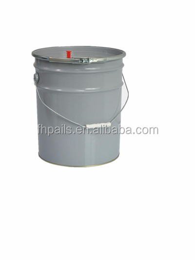 25L white color metal cans/bucket for glue/latex paint usage