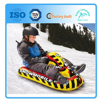 Inflatable Winter Snow Sled Kid's Snowmobile