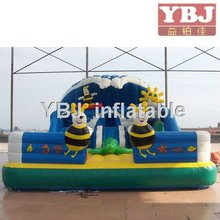 Dark blue ocean Inflatable fun city inflatable giant bouncer for sale pvc tarpaulin