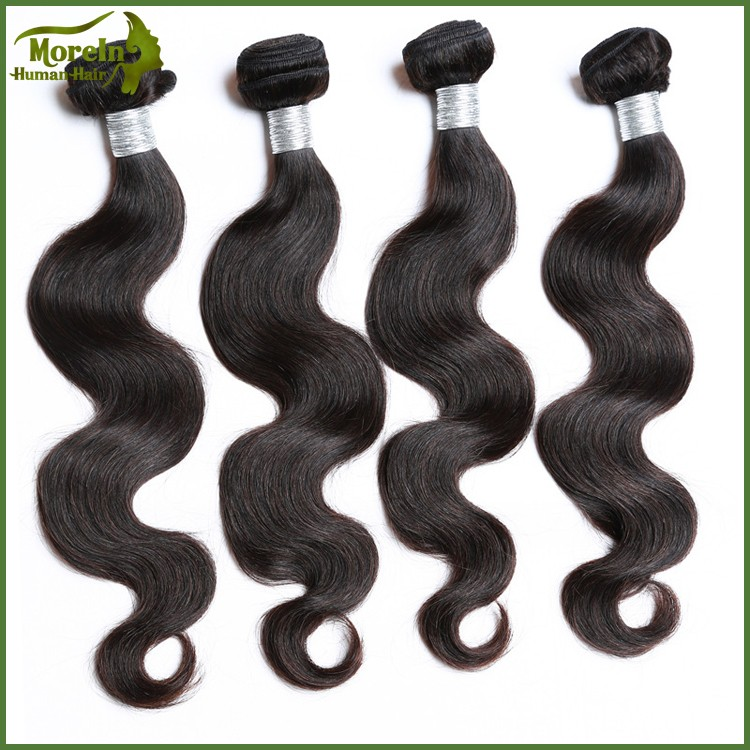 Wholesale Good Quality Natural Color Body Wave Virgin Indian Hair