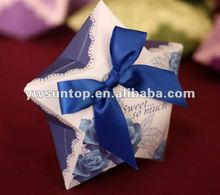 Yiwu China graceful five-pointed star handmade paper star shaped gift boxes