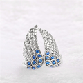 Latest Fashion Jewelry Oxidized Angle Wing 925 Silver Ring Designs For Girls
