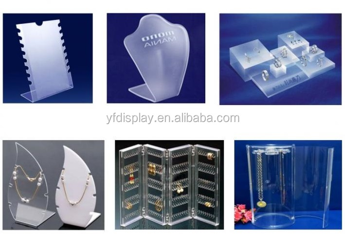 Customized design luxury acrylic jewelry display holder and jewellry holder