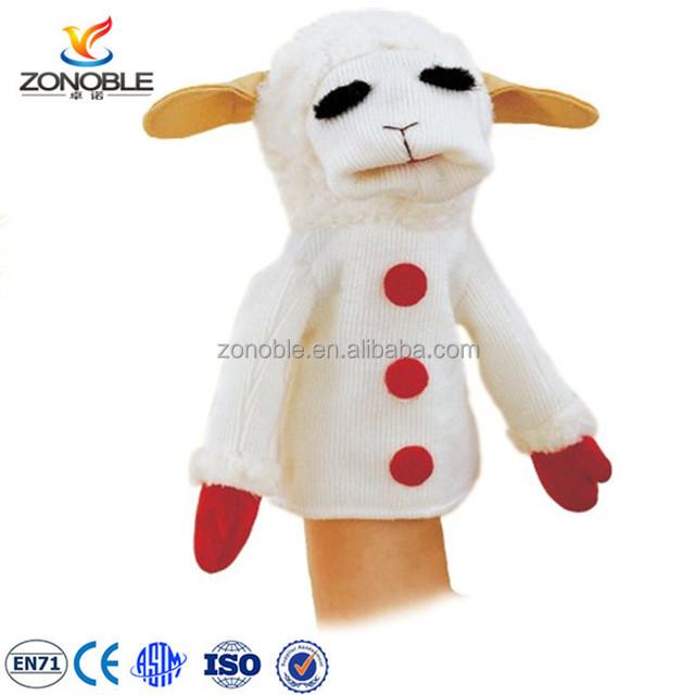 OEM Custom monster puppet plush Educational toys for kids stuffed animal toy goat hand puppet