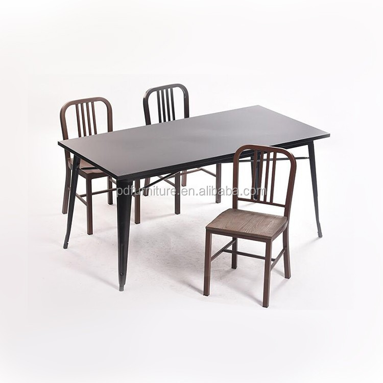 Fancy rustic wood table diner high gloss dining table with good price