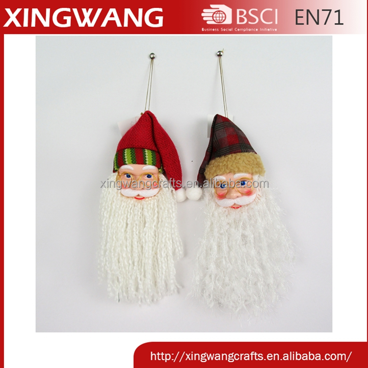 12 inch model shape christmas santa ornament tree ornament with burlap hat wholesale
