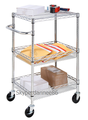 3-tier stainless steel trolley wire basket carts