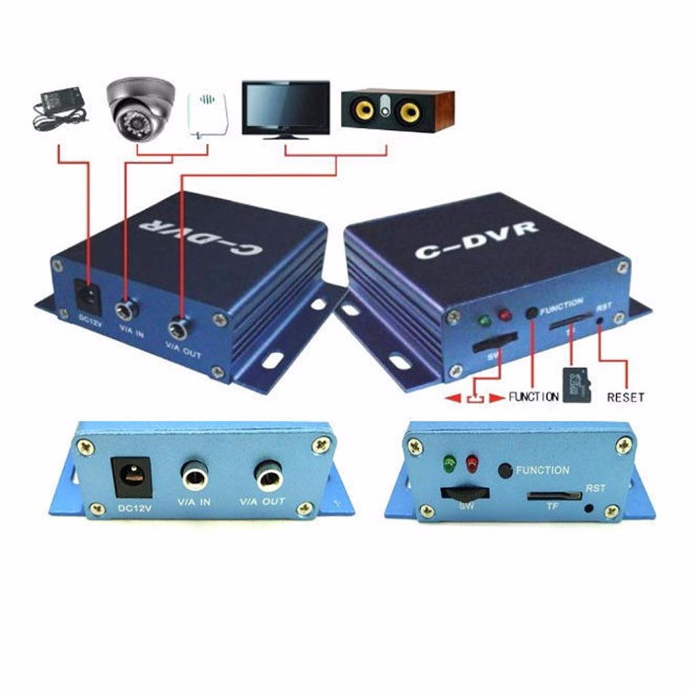 High Quality Single Channel Mini DVR Support TF card C-DVR 1 Channel Video Recorder Backup