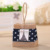 Dot Denim Fabric and Eiffel Tower Decor Jute Tote Burlap Wedding Favor Bags (BF-0053)