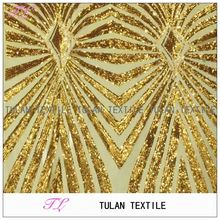 100% polyester sequins beaded mesh african lace fabric