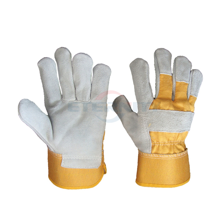 Competitive price full palm safety cow spilt leather working <strong>gloves</strong>