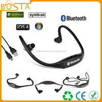 2015 Top bluetooth 3.0 wireless bluetooth sport neckband headset