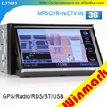 newest MTK3360 platform car DVD player with 7inch HD TFT LCD touch screen for universal cars and Win 8 UI DJ7053