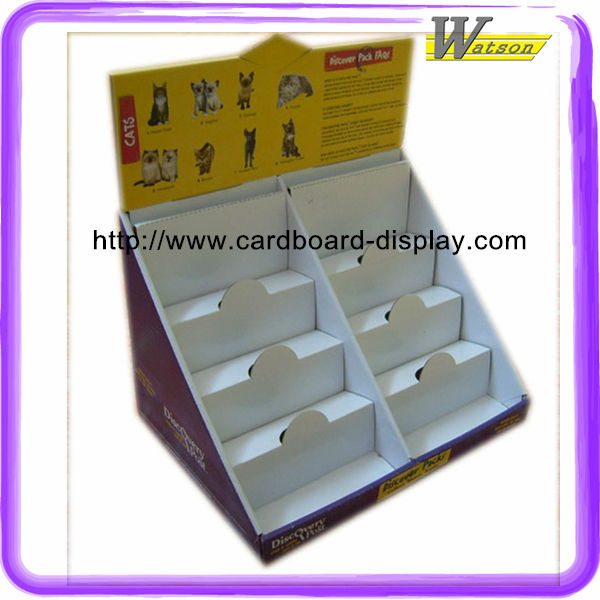 POS brochure cardboard counter display box, corrugated counter display case