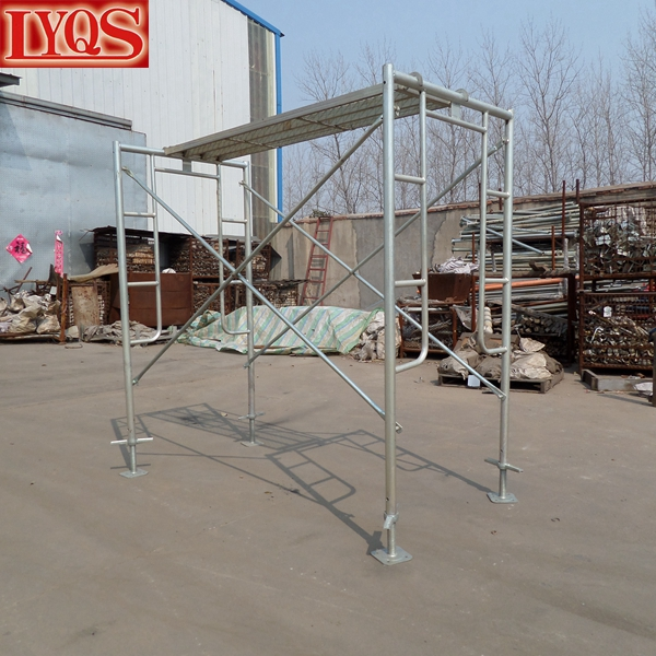 Snap On Scaffolding : Galvanized scaffolding frame set plaster snap on thru