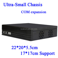 factor mini itx type horizontal U.S. version of the Mini-ITX motherboard small chassis E350 Black HD mini Car PC HTPC case