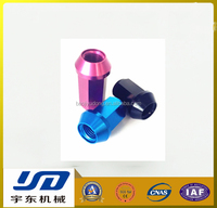 Titanium automobile wheel nut and bolts