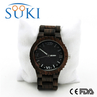 2016 Japan Quartz Movement vogue 2115 wrist watch men and women wood watch