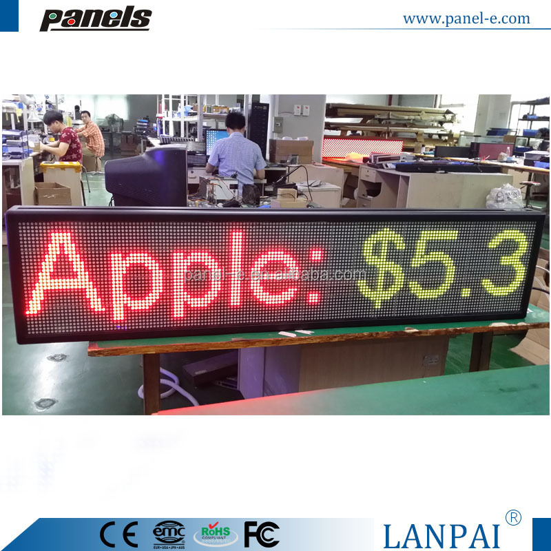 electronic advertising led banner for indoor use/ dot matrix led sign/double color led sign