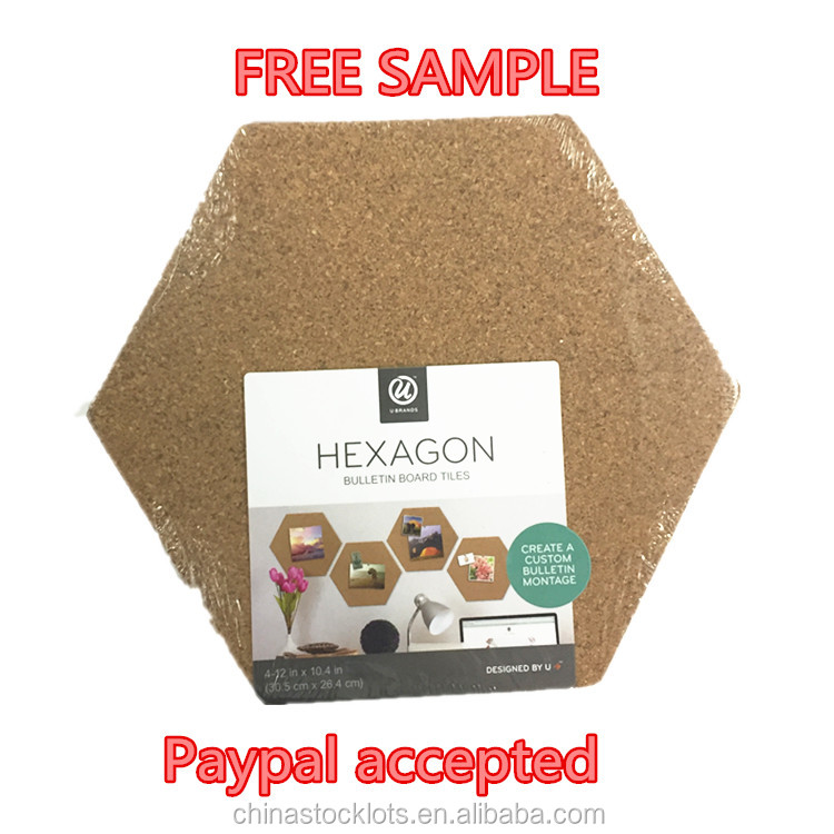 Free sample paypal accepted small MOQ Natural Cork Tiles create a Custom Cork Cork Bulletin Board