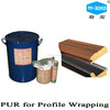 Shanghai Rocky woodworking usage PUR hot melt adhesive glue for profile wrapping