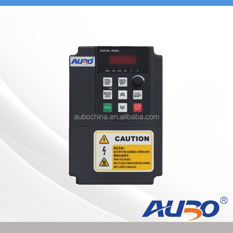 Vector Control Variable Frequency Drive VFD 50hz 60HZ 0.75kw 1.5kw 2.2kw single phase input & 3 phase output
