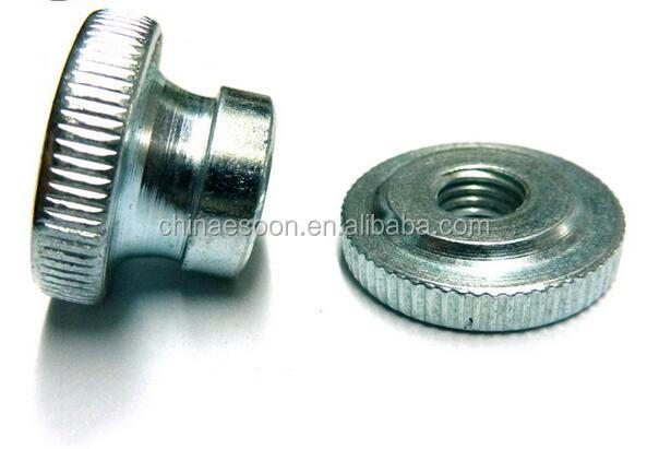DIN466 knurled thumb thin <strong>nuts</strong> Haiyan cheap hardware factory price GB806-88 E-SOON zink plated