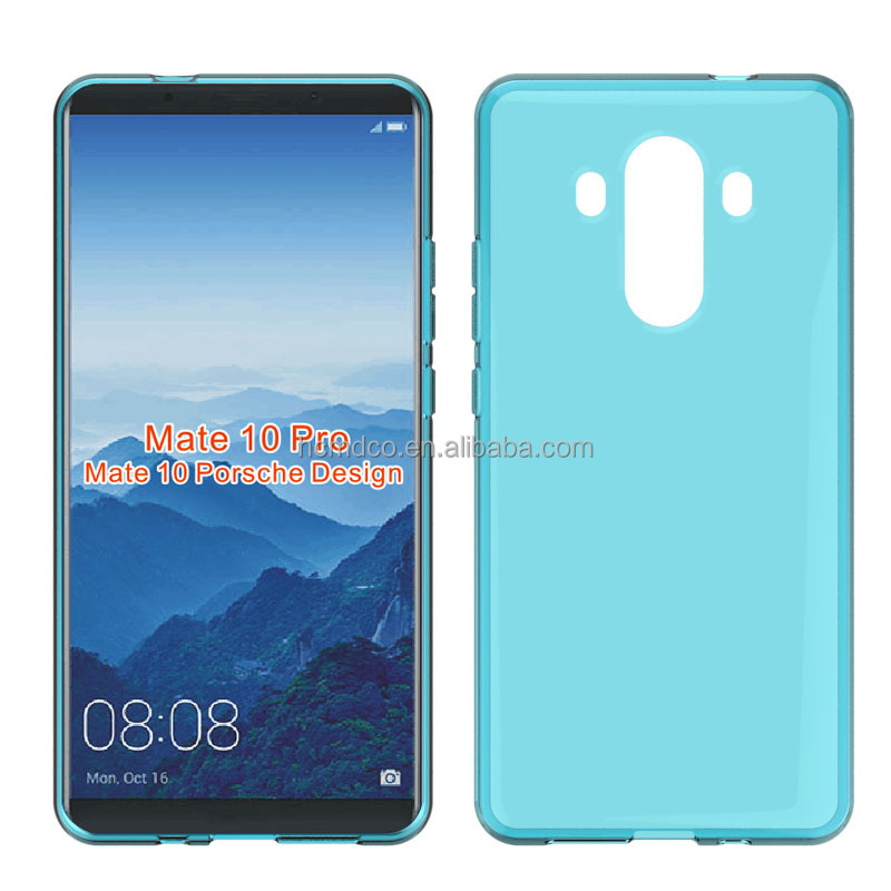 clear Transparent soft mobile phone case for Huawei Mate 10 pro tpu back cover