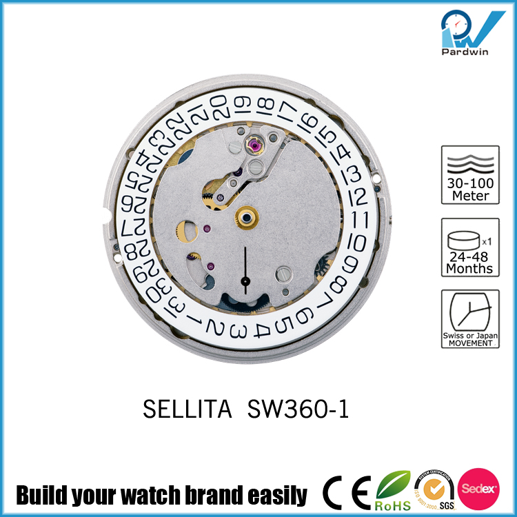 Sub-dials Watches Automatic Sellita Movement SW360-1 Date Month Calendar 31 Jewels
