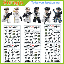 Free Shipping Toy Soldiers Figure Building Block Mini Military Action Figure Plastic Special Force Building Bricks Construct Toy