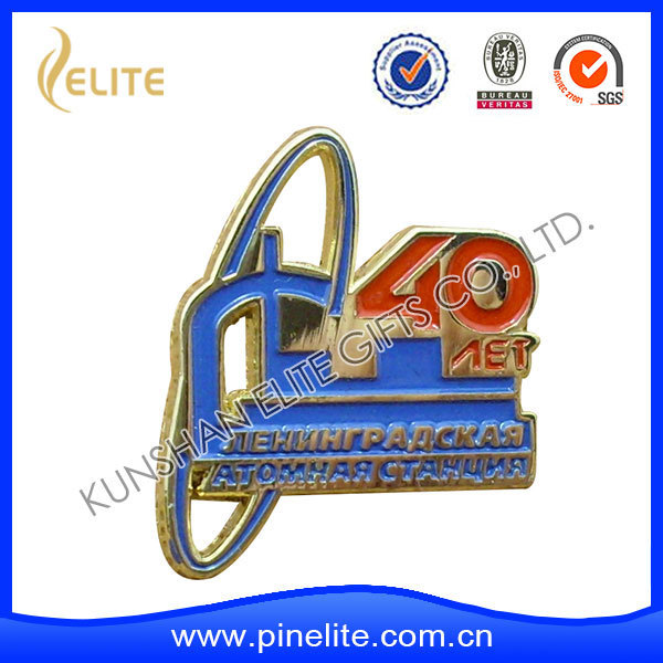 zinc alloy metal soft enamel lapel pins with cut out,safety officer badges as gifts