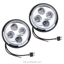 "Hot sale 7"" Inch LED Headlight For Jeep wrangler Headlight 7 Inch, 7 Inch LED Headlamp"