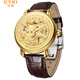 EYKI E7008L 2017 Luxury Brand China Dragon Totem Luxury Automatic Mechanical Watch Leather Fashion Business Hollow Watch