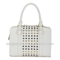 Wholesale Vintage Deisgner Rivet Women Leather Satchel Bag