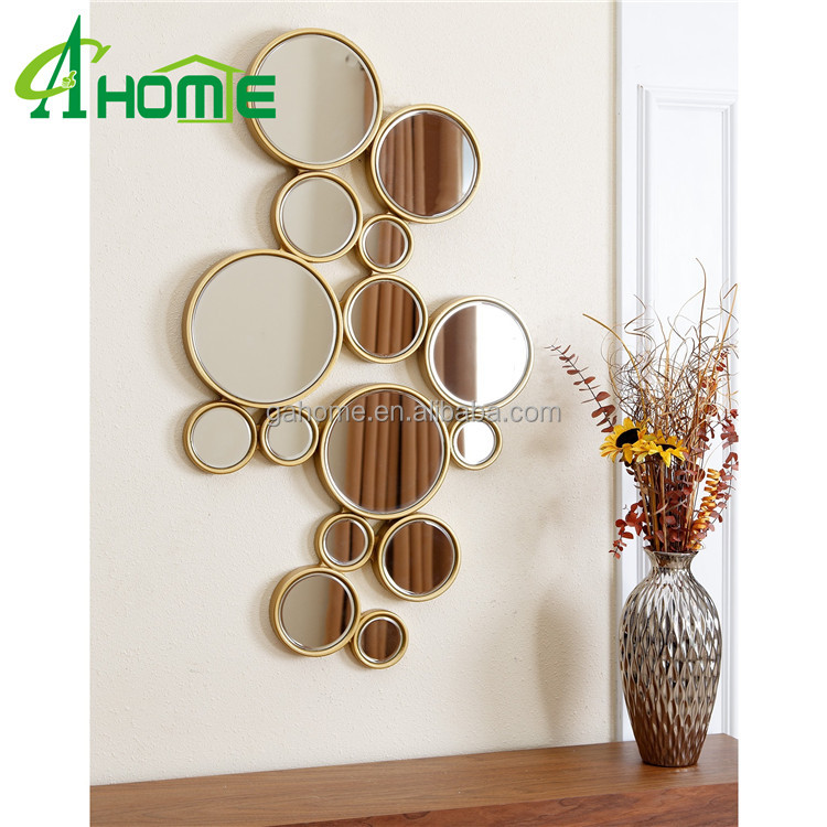 Unique mordern style high quality decorative bubbles dressing mirror wall mirror