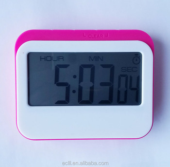 Large screen display 23 hours 59 minutes 59 seconds setting big countdown kitchen timer clock with magnet