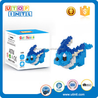 Holiday Gifts Educational Toy Cute Blue Pet Nano Diamond ABS Plastic Building Building Toys for Girls